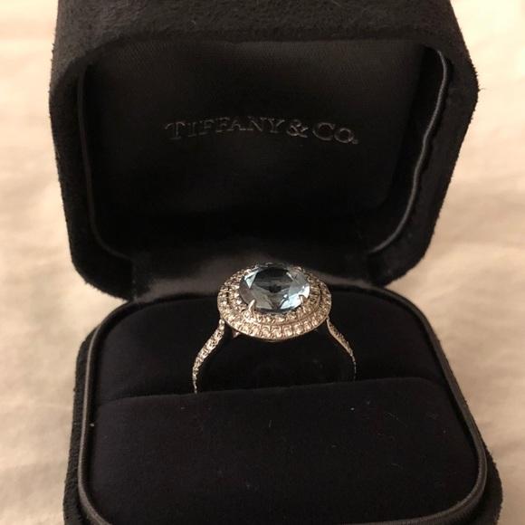 9607c38c4 Tiffany & Co. Jewelry   Tiffany Soleste Aquamarine Platinum Ring ...